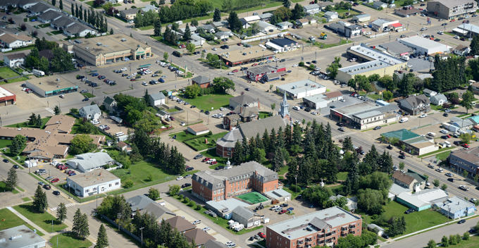 Aerial photo of Morinville