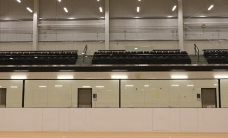 Photo of benches in an arena