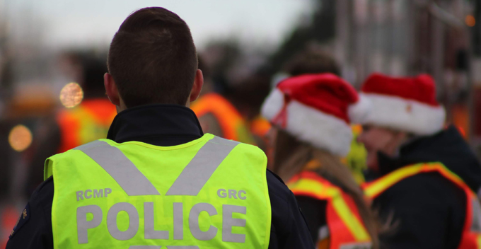 RCMP members and the candy cane checkstop