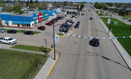 Aerial view of Morinville