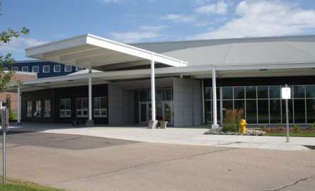 Front entrance of the Morinville Community Cultural Centre