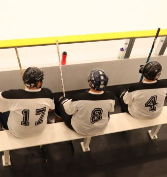 Hockey Players in box