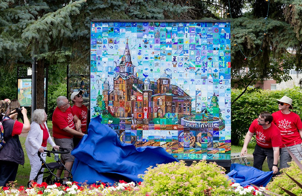 Unveiling of Canada 150 Mosaic Mural