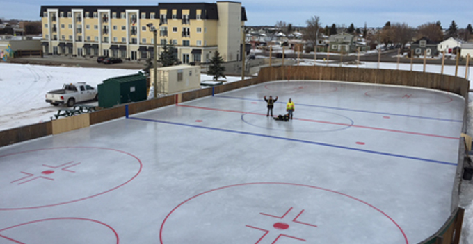 Outdoor Rink in winter