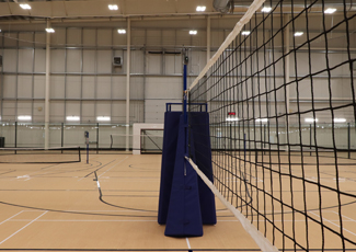 Volleyball net in the field house